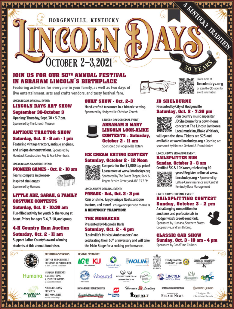 Download Lincoln Days flyer
